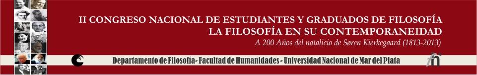 II Congreso Nacional de Estudiantes y Graduados de Filosofía. La filosofía en su contemporaneidad