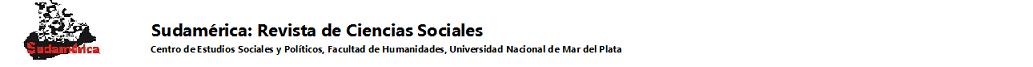Sudamérica : Revista de Ciencias Sociales
